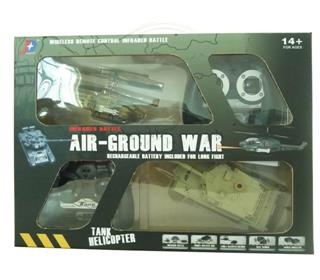 R/C INFRARED PLANE AND TANK TO FIGHT (SET)
